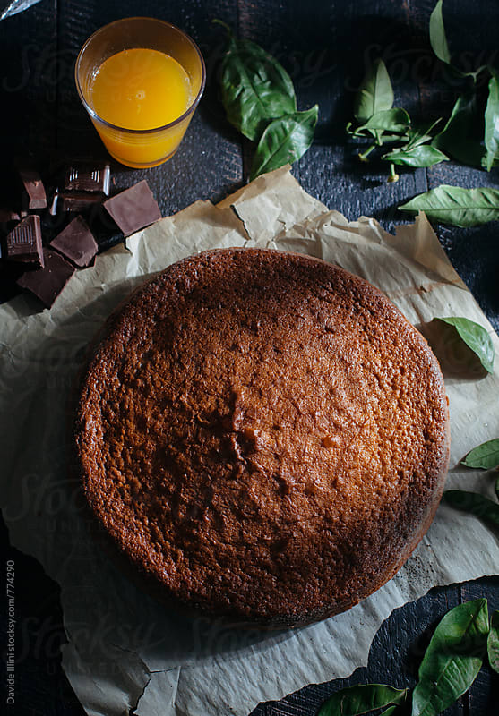 Chocolate Orange Cake by Davide Illini for Stocksy United