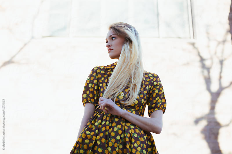 Beautiful Girl in Vintage Dress  by Gabrielle Lutze for Stocksy United