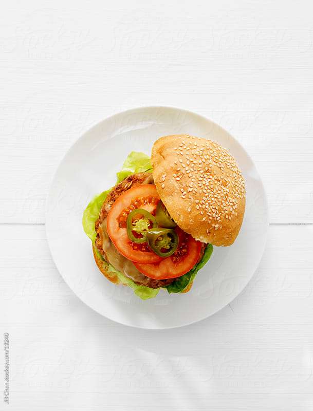Classic Burger on White by Jill Chen for Stocksy United