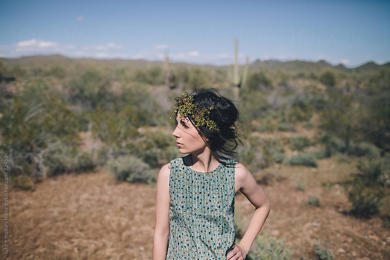 Desert girl by luke + mallory leasure for Stocksy United