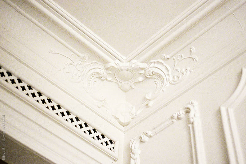Early 1900's crown moulding by Riley J.B. for Stocksy United