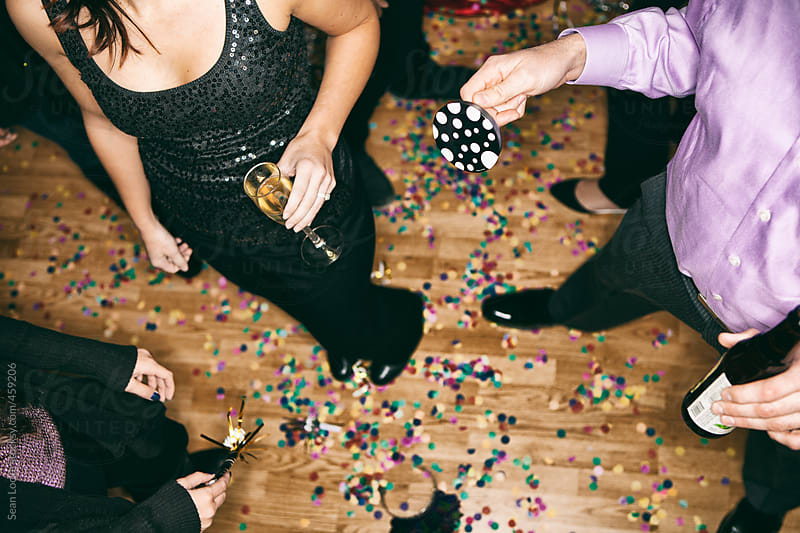 Party: Overhead View Of People After New Year's Eve by Sean Locke for Stocksy United