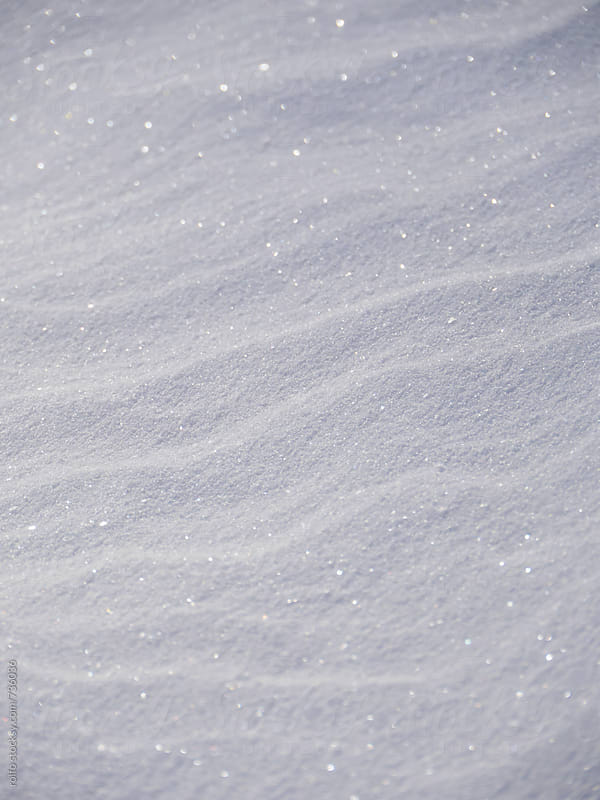 abstract snow surface by rolfo for Stocksy United