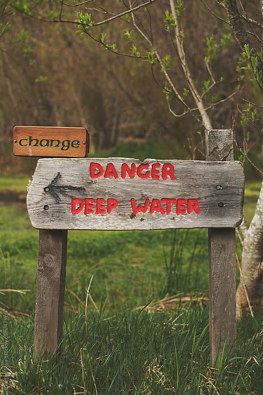 Danger Deep Water. by Darren Muir for Stocksy United