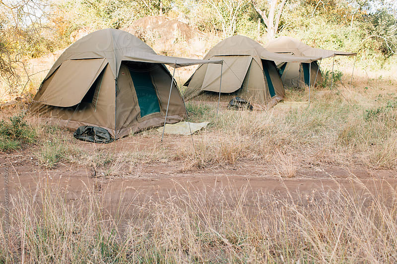 safari tents in Tanzania by Cameron Zegers for Stocksy United