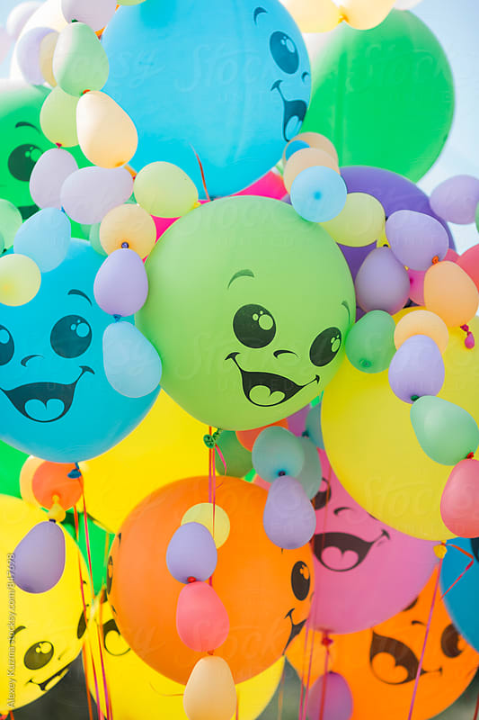 happy balloons party by Alexey Kuzma for Stocksy United