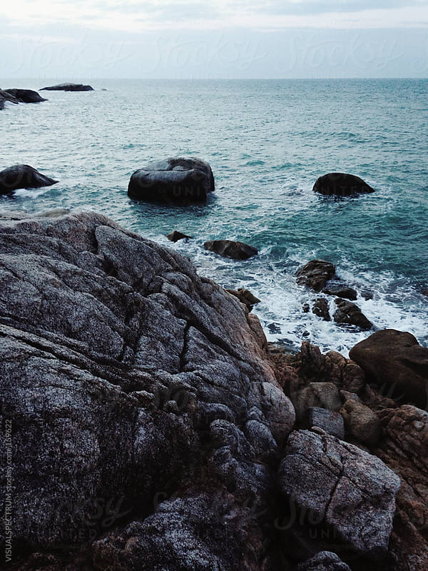 Rocky Shoreline by VISUALSPECTRUM for Stocksy United