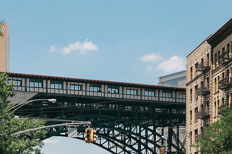 Elevated Train Station in Harlem by Victor Torres for Stocksy United
