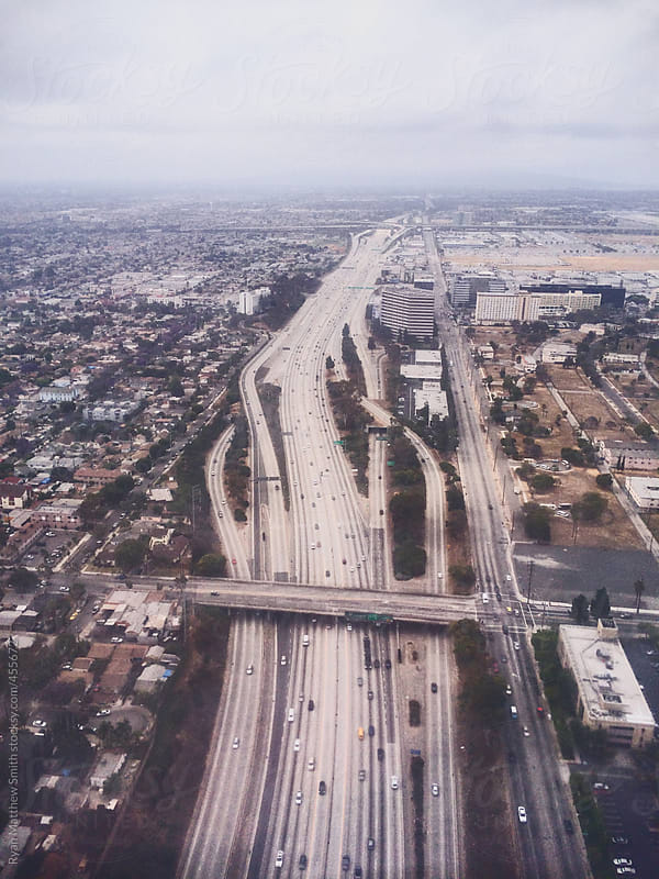 Interstate 5 from Above by Ryan Matthew Smith for Stocksy United
