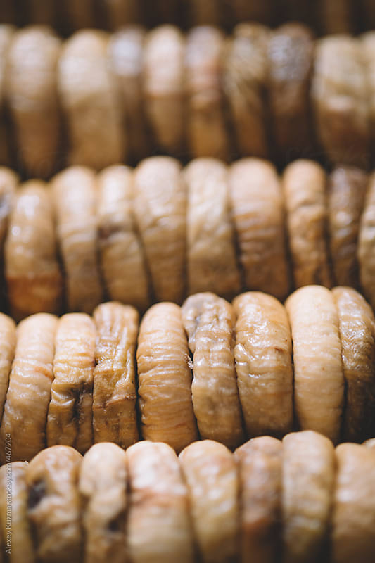 dried figs in closeup. by Alexey Kuzma for Stocksy United