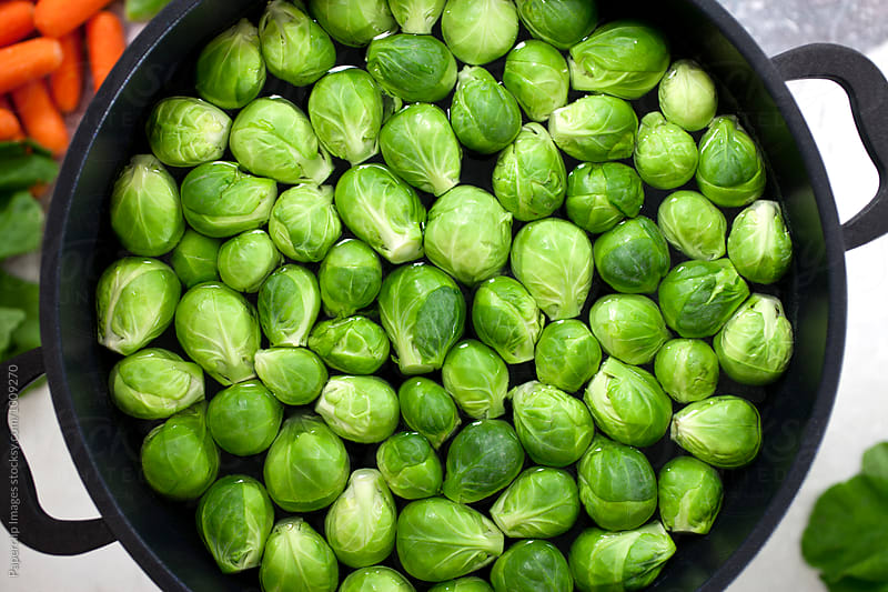 Brussels sprouts by Paperclip Images for Stocksy United