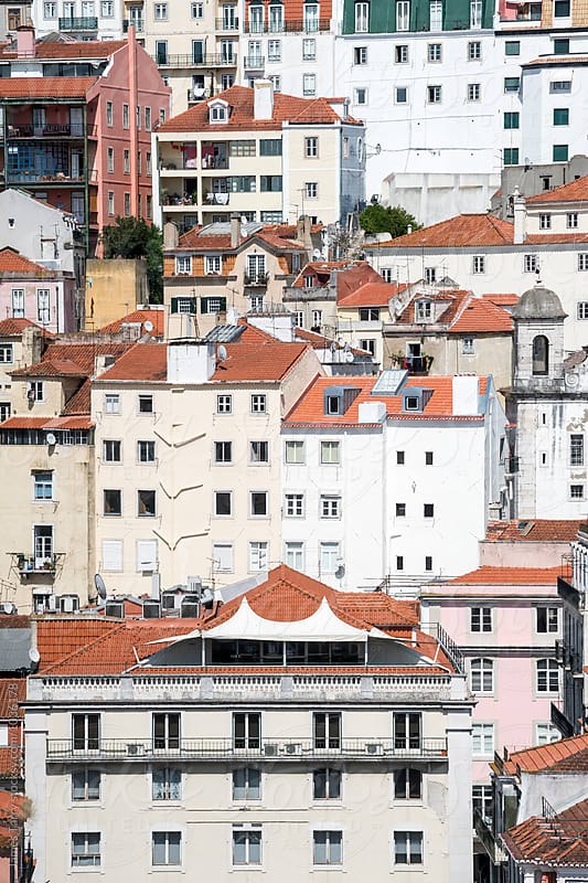 Lisbon rooftops by James Tarry for Stocksy United