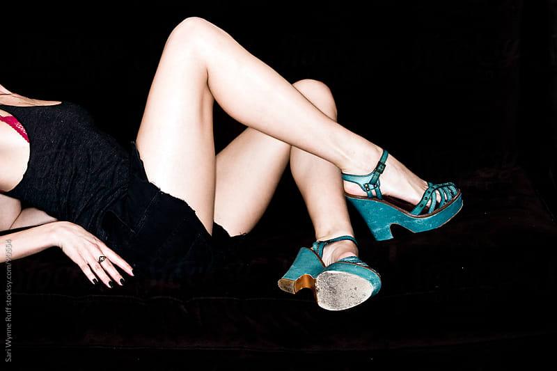 legs, flash, heels by Sari Wynne Ruff for Stocksy United