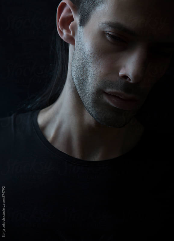 male beauty portrait by Sonja Lekovic for Stocksy United