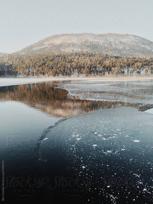 Ice on the lake by Bor Cvetko for Stocksy United