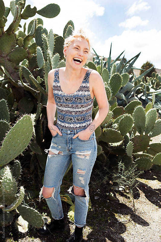 Cactus fun  by Rachel Schraven for Stocksy United