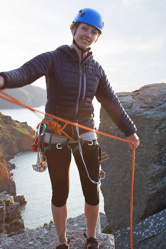 Female Rock Climber by Hugh Sitton for Stocksy United