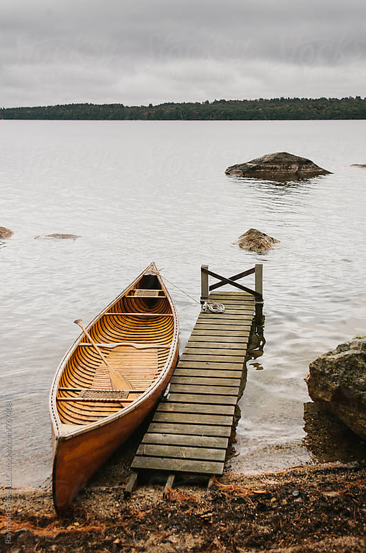 Antique Wooden Canoe by Raymond Forbes LLC for Stocksy United