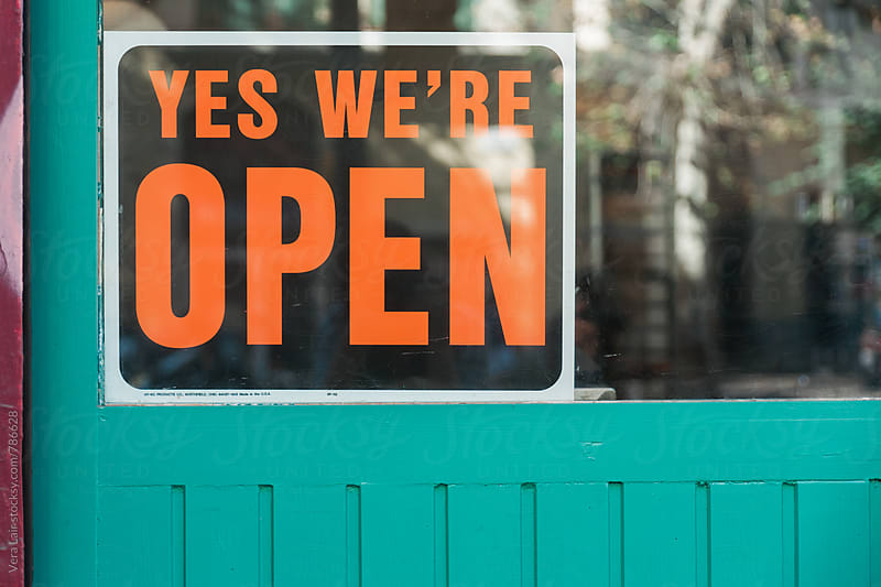 Yes, we're open by Vera Lair for Stocksy United