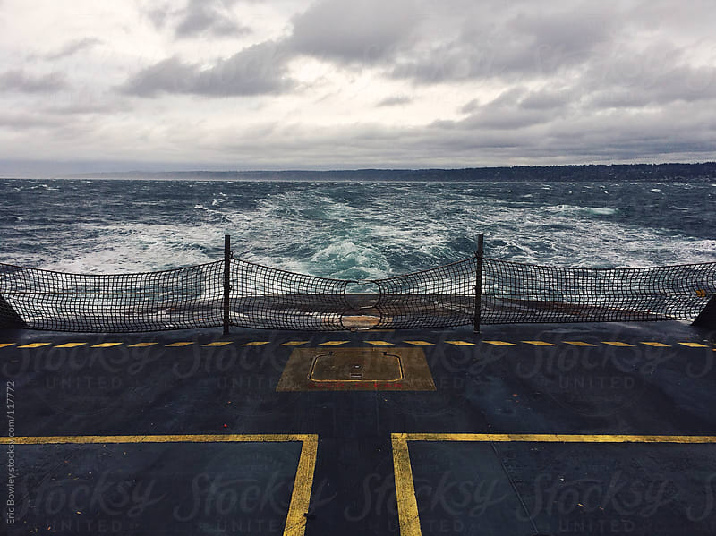 Stormy Ocean Ferry Currents by Eric Bowley for Stocksy United