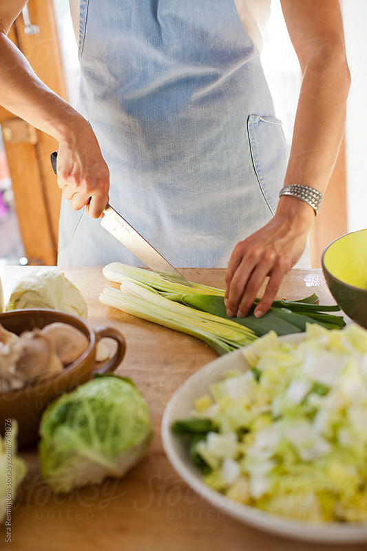 Leeks for Fermenting by Sara Remington for Stocksy United