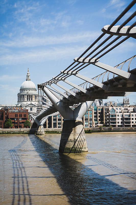 Millennium Bridge in London by Mauro Grigollo for Stocksy United