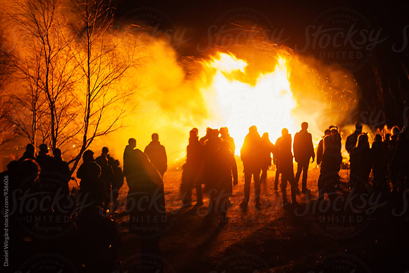 Easter bonfire by Daniel Wirgård for Stocksy United
