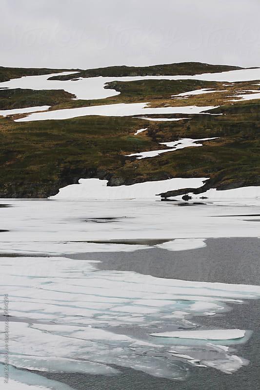 Norwegian Ice Lake by Kaat Zoetekouw for Stocksy United