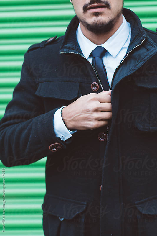 Attractive Businessman Portrait Outdoors by Good Vibrations Images for Stocksy United