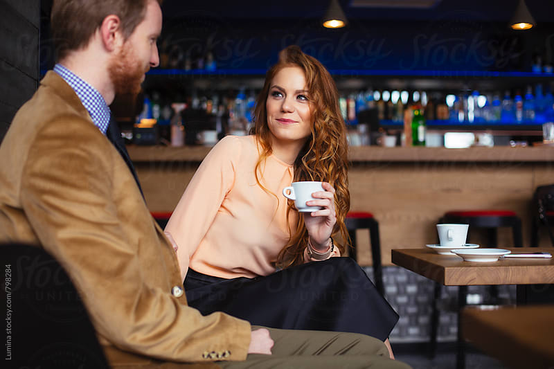 Ginger Couple in a Bar by Lumina for Stocksy United