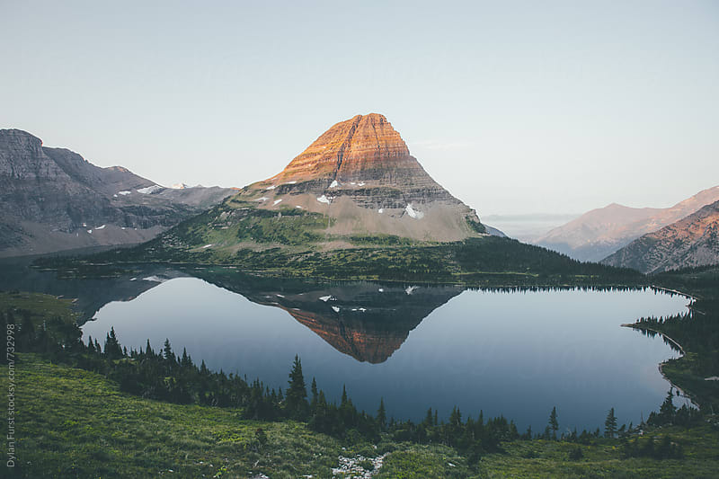 Hidden lake Sunise by Dylan Furst for Stocksy United