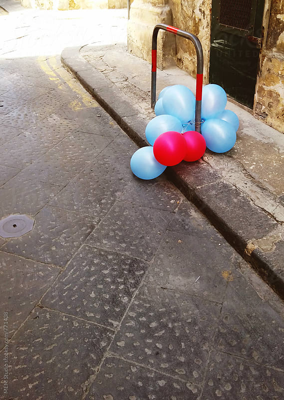 balloons at the street by MEM Studio for Stocksy United