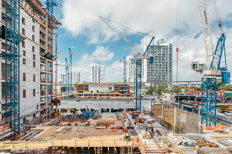 Miami Construction Downtown by Stephen Morris for Stocksy United