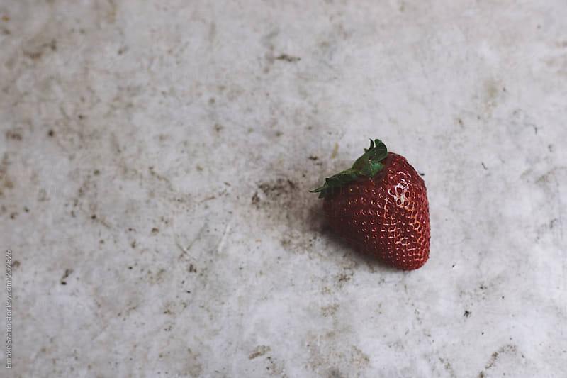 Single fresh strawberry by Emoke Szabo for Stocksy United