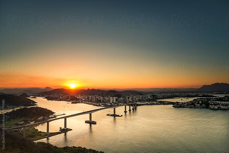 Brazilian Cityscape - Vitória - Bridge - Frontal View. by Yuri Barichivich for Stocksy United