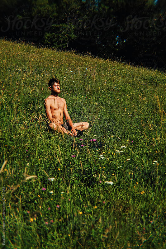 miguel meditation by Paul Schlemmer for Stocksy United