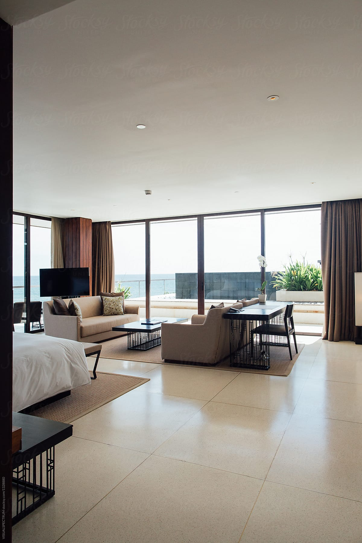 Minimalist Spacious Master Bedroom In High End Beach Resort By Visualspectrum Bedroom Modern Stocksy United