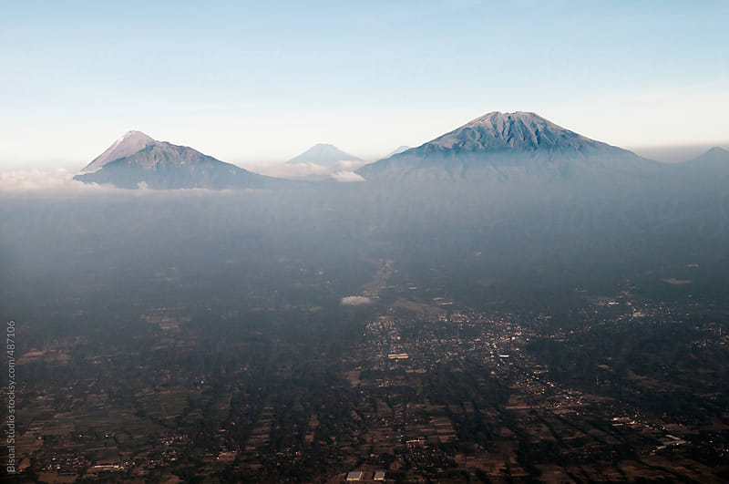 Volcanoes on the island of Java by Bisual Studio for Stocksy United