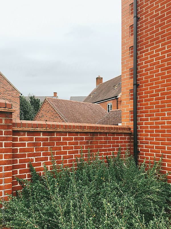 Exposed Brick Walls - Typical Neighborhood in UK by VISUALSPECTRUM for Stocksy United