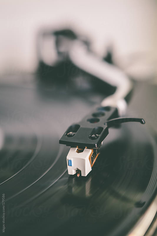 Turntable arm in a record player by kkgas for Stocksy United