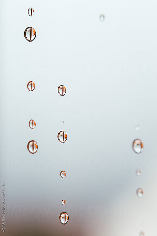 Raindrops on the windowpane by ACALU Studio for Stocksy United