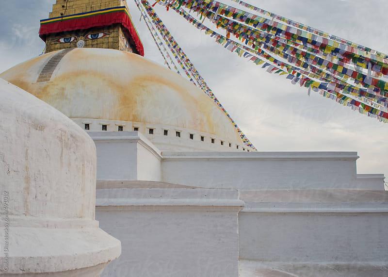 Budhanath Stupa in Kathmandu, Nepal. by Gabriel Diaz for Stocksy United
