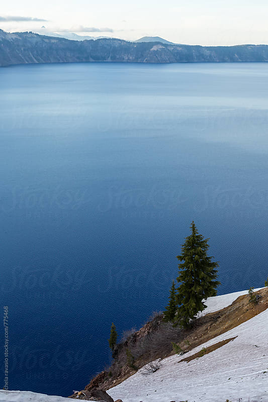 The blue color of Crater lake by michela ravasio for Stocksy United
