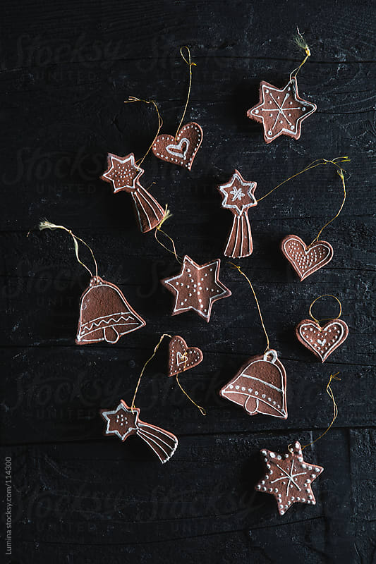 Clay Christmas Ornaments by Lumina for Stocksy United