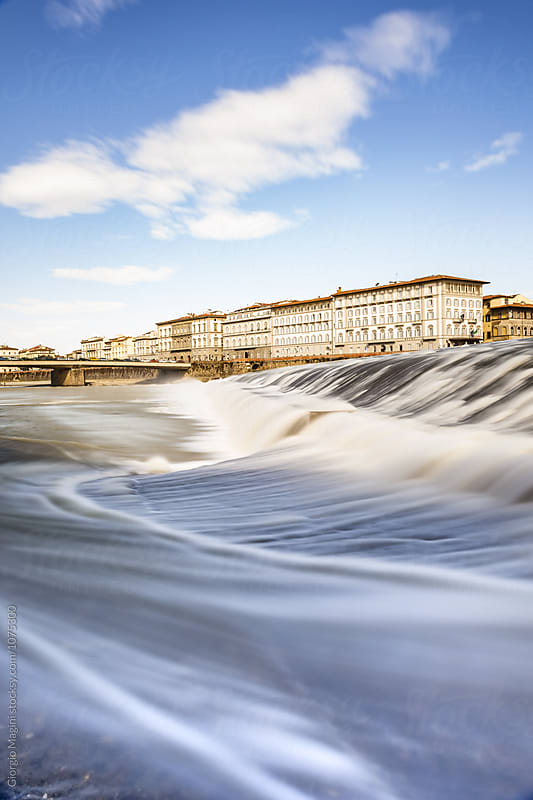 Arno River in Florence, Long Exposure at Daylight by Giorgio Magini for Stocksy United
