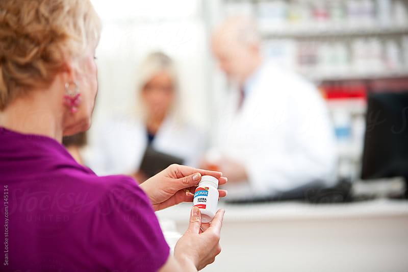 Pharmacy: Focus on Medicine Bottle Label by Sean Locke for Stocksy United