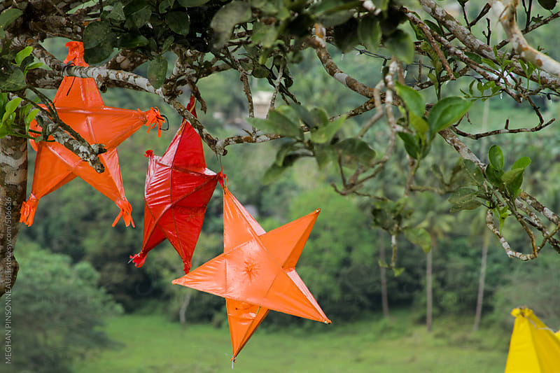 Homemade Filipino Christmas Stars by MEGHAN PINSONNEAULT for Stocksy United