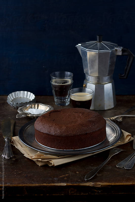 Chocolate cake by Noemi Hauser for Stocksy United