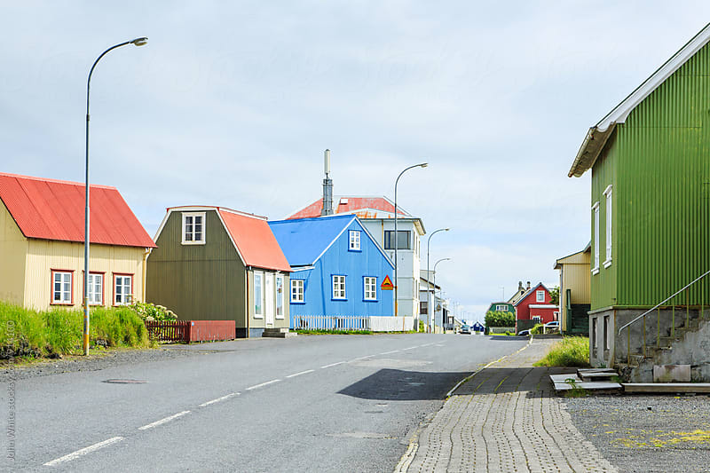 Houses in Eyrarbakki. Iceland by John White for Stocksy United