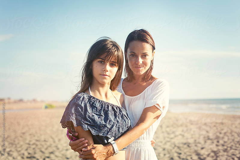 Mom and daughter by Carlo Amoruso for Stocksy United